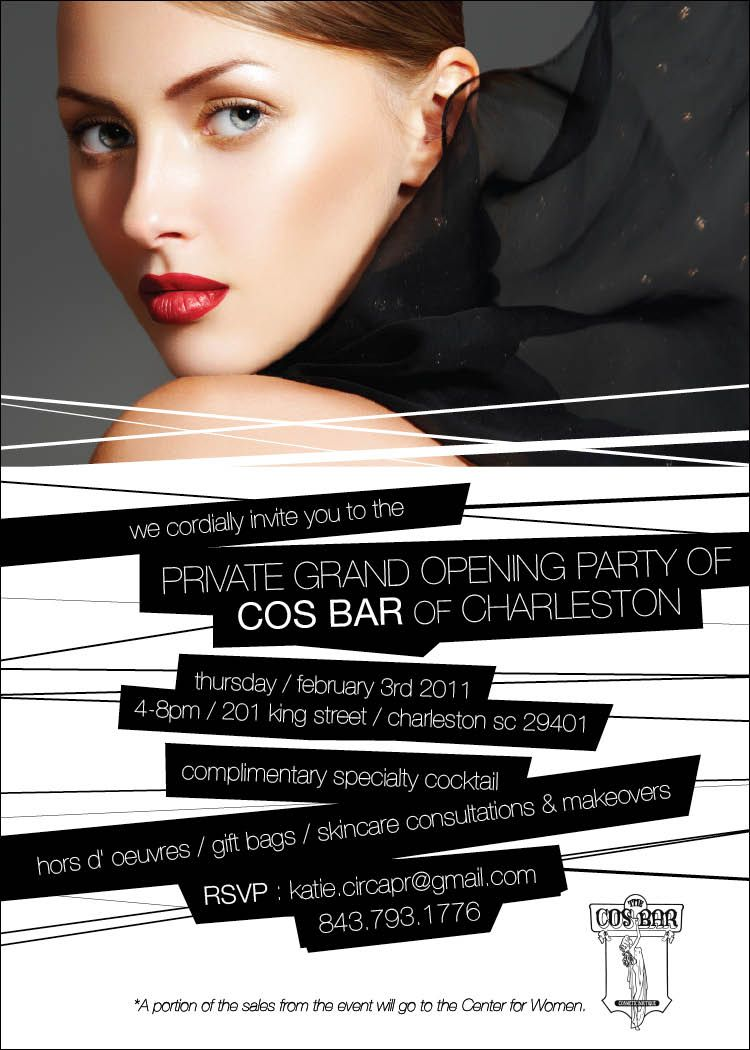 Cos Bar Grand Opening Invite Designed By Jessica Crouch Fancy