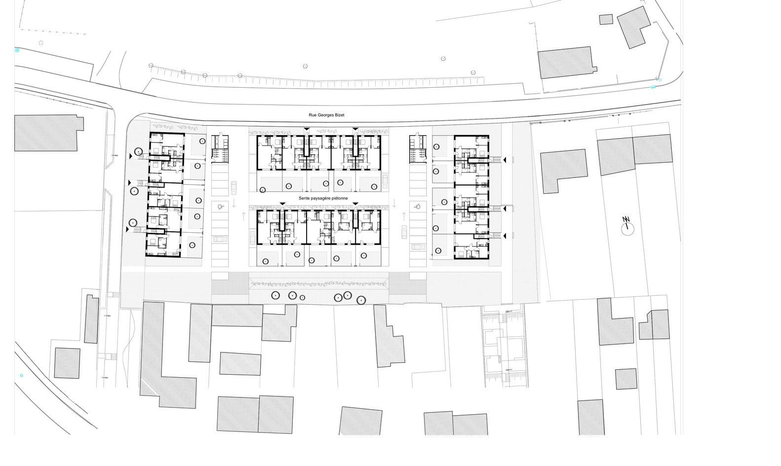 Gallery Of Eden D Ardennes Housing Ateliers O S Architectes 14 Ground Floor Plan Floor Plans Ground Floor