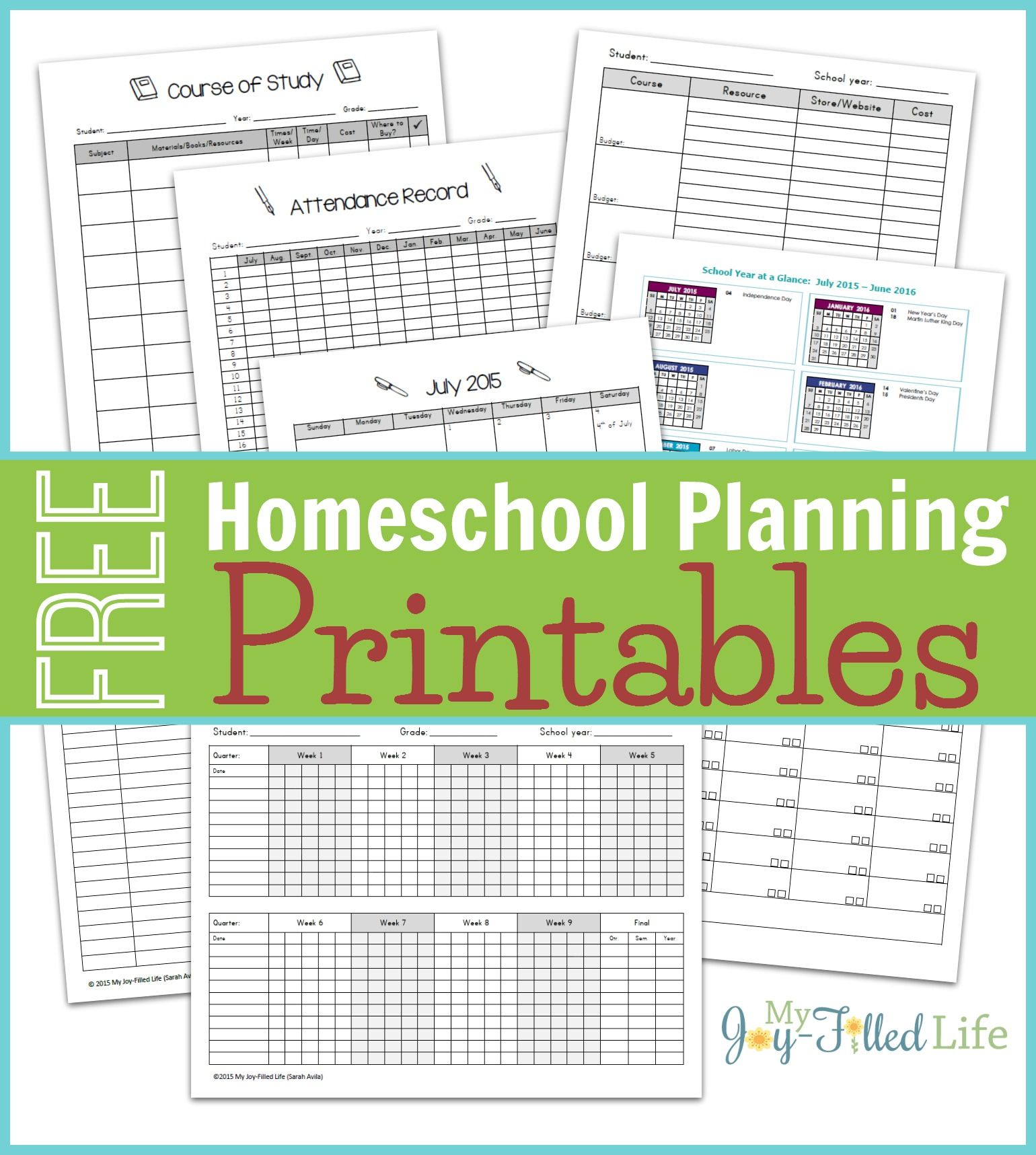 Homeschool Planning Resources & FREE Printable Planning