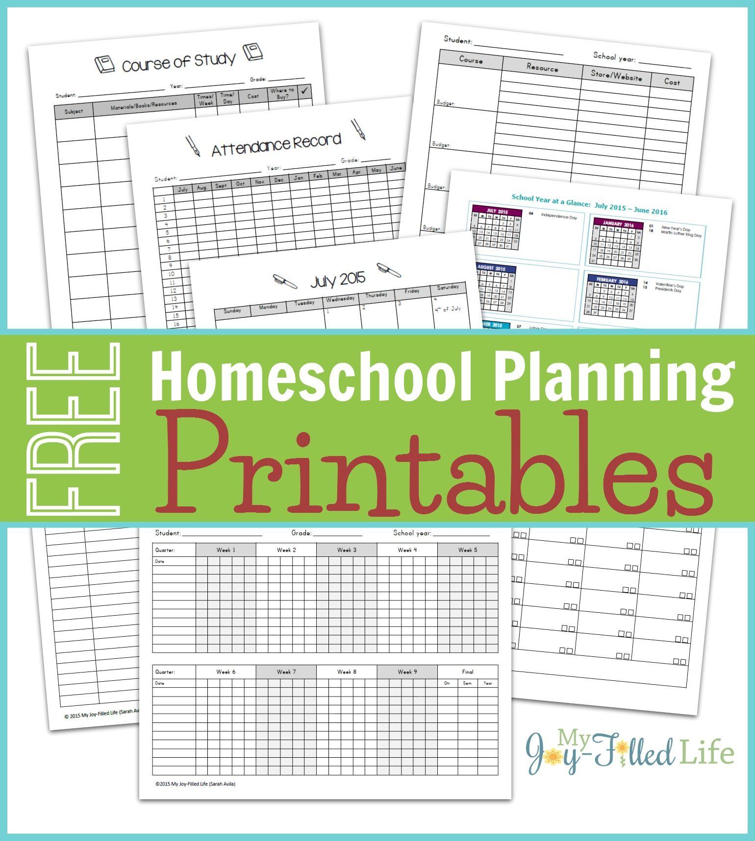 Homeschool Planning Resources Amp Free Printable Planning