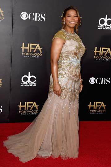 Queen Latifah wore a Badgley Mischka gown to the 18th Annual Hollywood Film Awards.