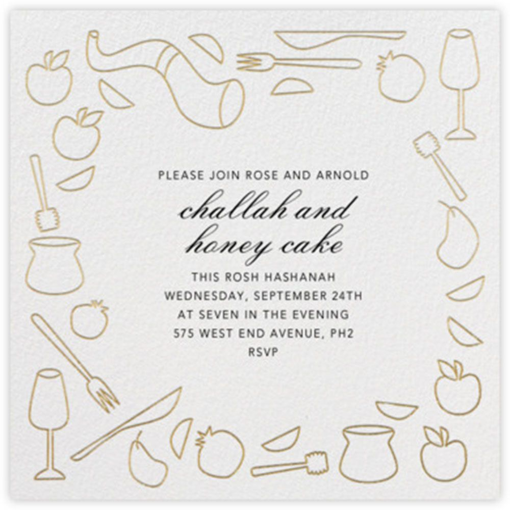 Party simple challah and honey cake rosh hashanah invitation simple challah and honey cake rosh hashanah invitation template nosh hashanah invitation rosh kristyandbryce Images