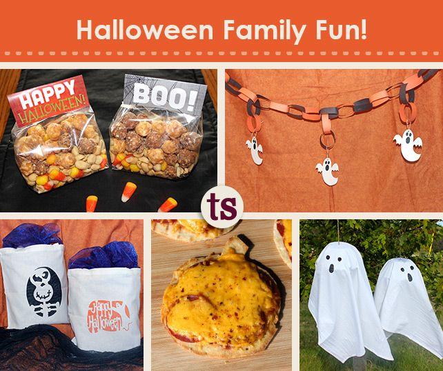 Halloween Family Fun Crafts, Food ideas and Printable templates - fun halloween ideas