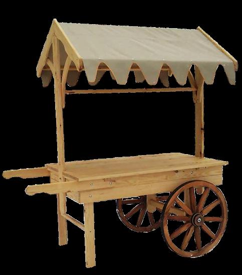 Awning Cart Wood Vendor