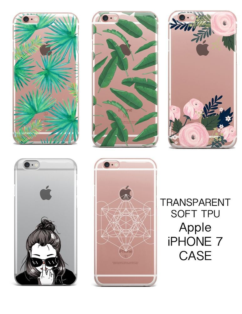finest selection e6603 72b29 Details about Premium Soft Clear TPU Silicone Case Cover Apple ...