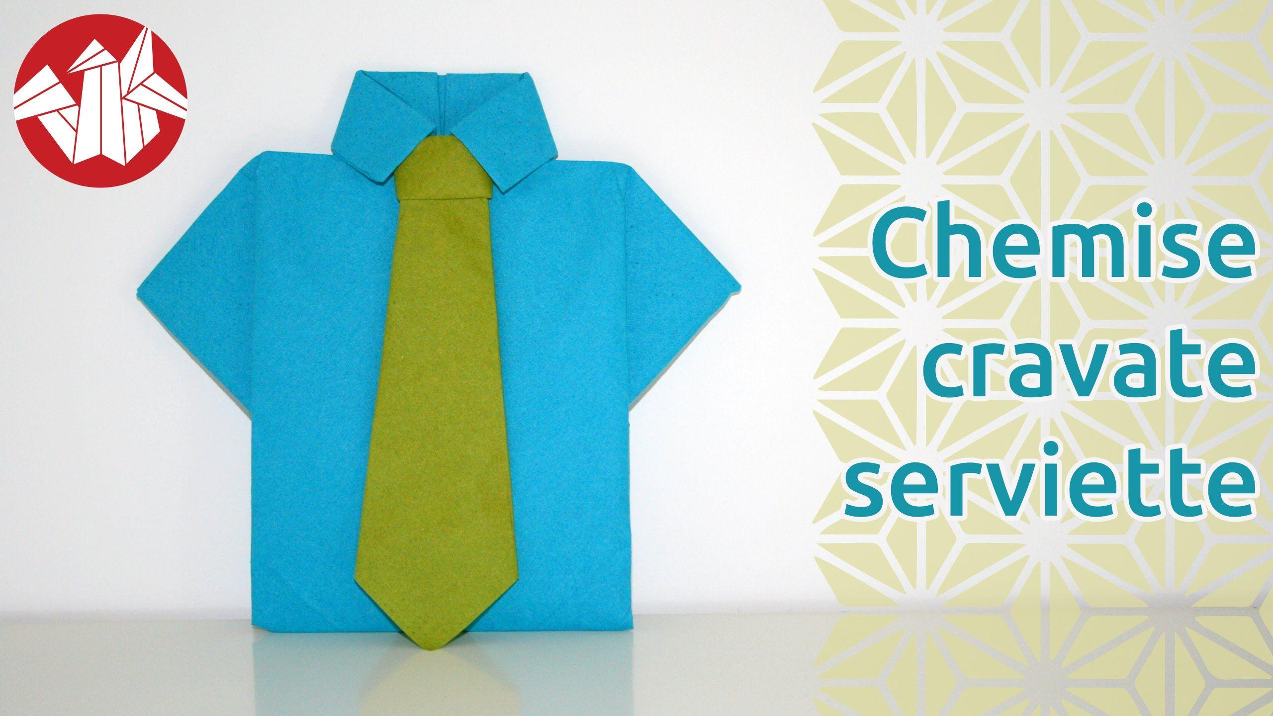 ordinary pliage de serviette en chemise 9 origami chemise et cravate en serviette shirt. Black Bedroom Furniture Sets. Home Design Ideas