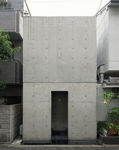 row house in sumiyoshi tadao ando osaka feb 1976 bau pinterest architektur geb ude. Black Bedroom Furniture Sets. Home Design Ideas