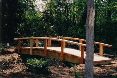 Create A Beautiful Path Across Any Garden Streams Or Gaps With Wooden Bridge An Arched Railing
