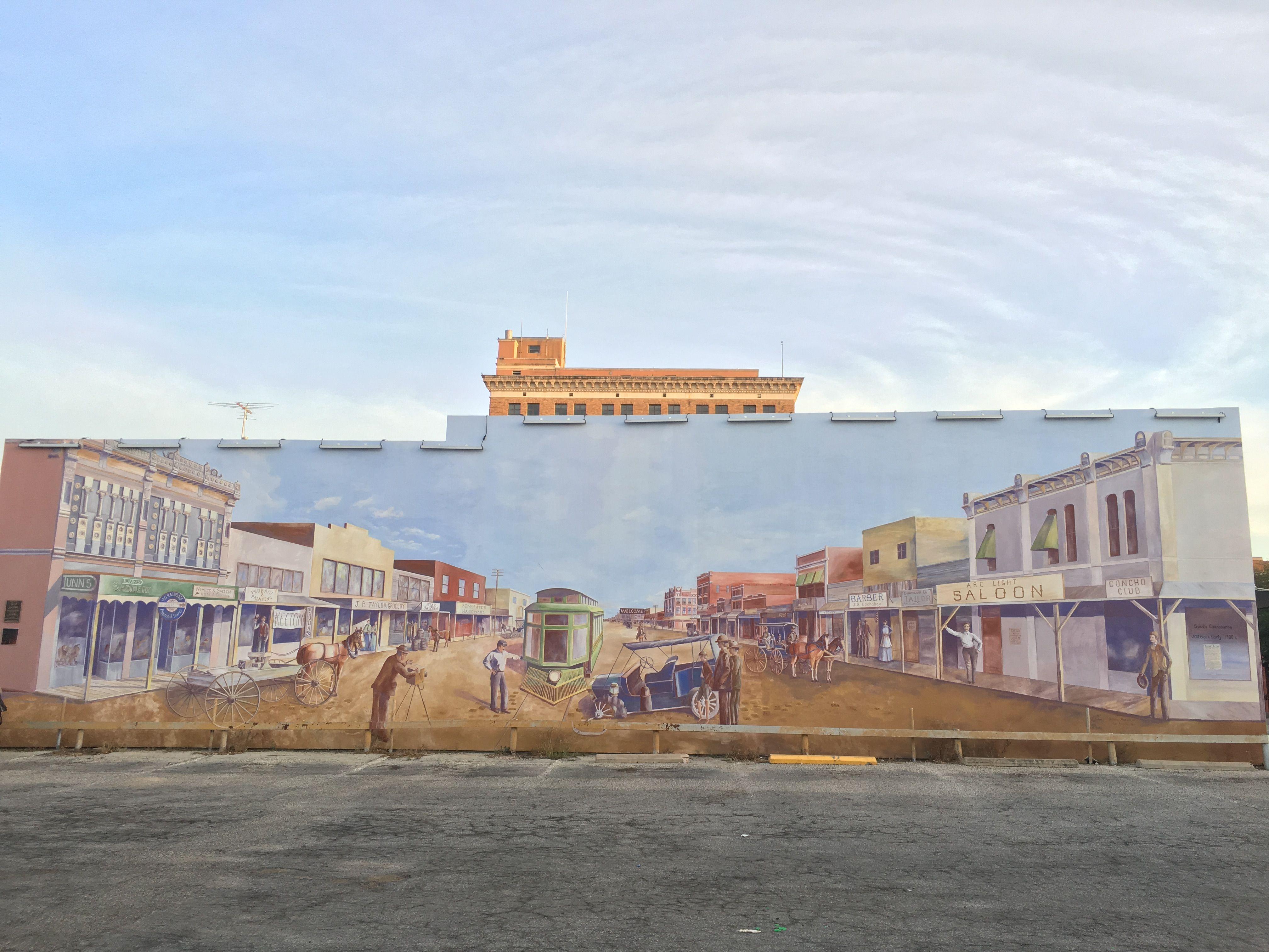 Chadbourne St Mural In San Angelo Texas San Angelo San Mural
