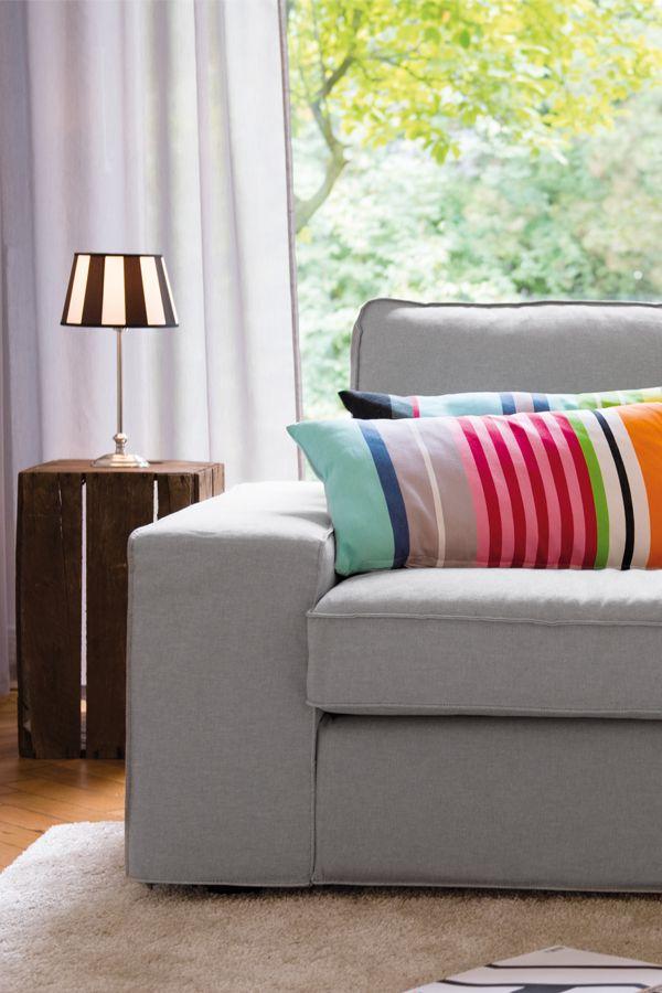 #kissen #sofa #wohnzimmer #wohnen #bunt #einrichten # ...
