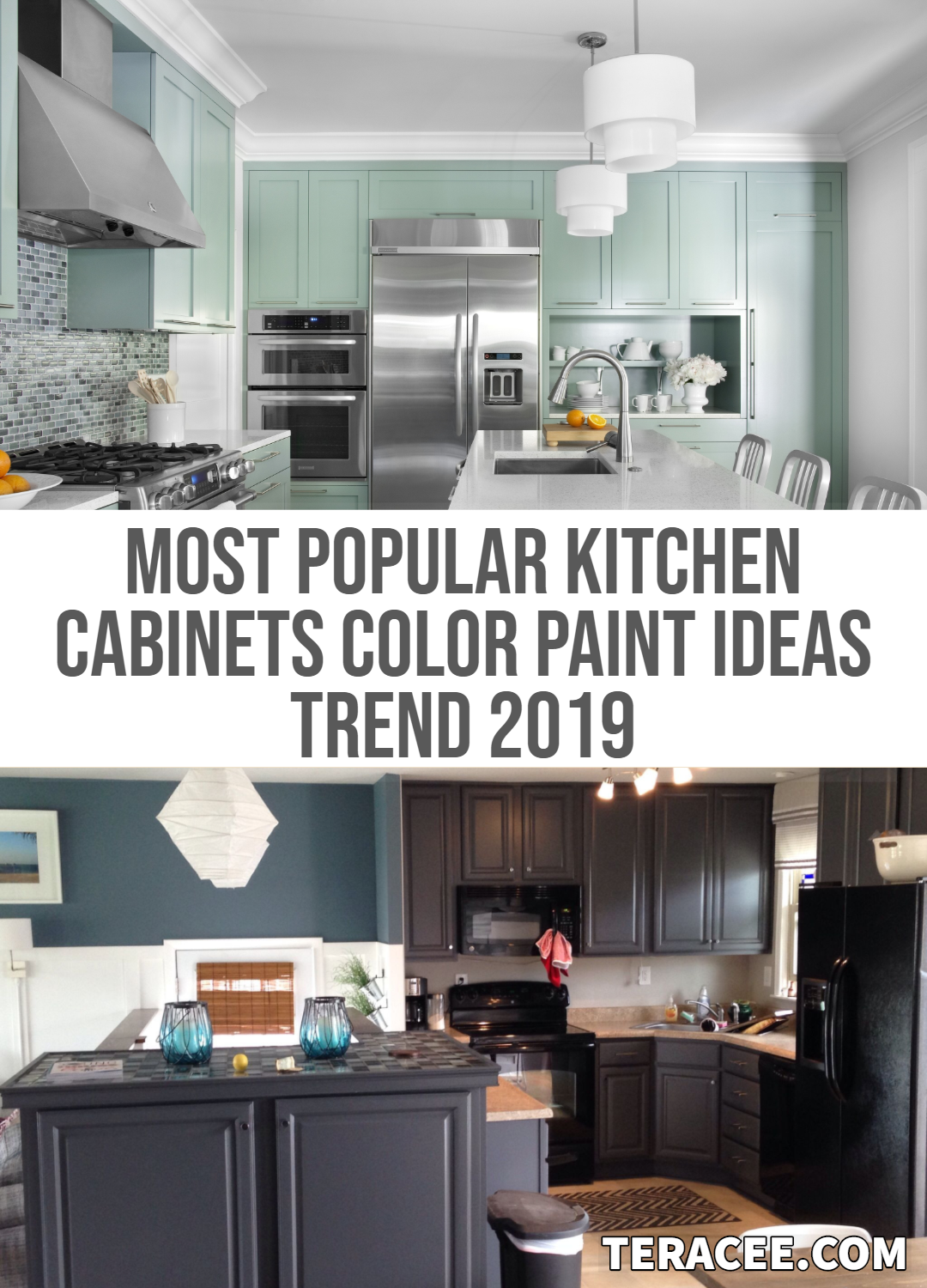 33 Most Popular Kitchen Cabinets Color Paint Ideas Trend 2019 Teracee Kitchen Cabinet Colors Old Kitchen Cabinets Kitchen Cupboard Colours