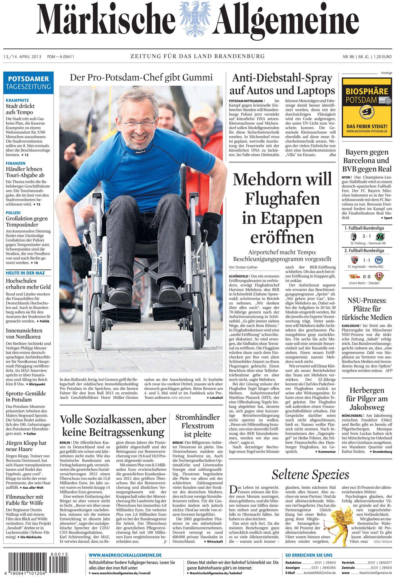 Samstag 13 April 2013 Auf Dem Land Brandenburg Allgemeine Zeitung