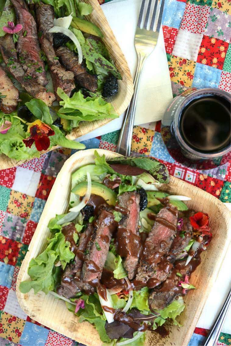 Steak Salad with Smoky Dark Cherry Balsamic Dressing | Forest and Fauna - *Follow AIP notes at bottom of recipe