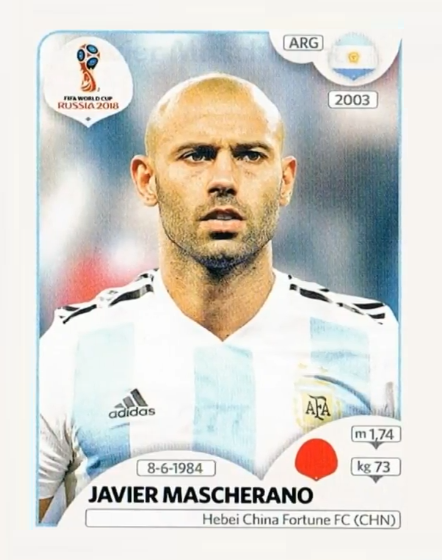 265 Javier Mascherano Argentina Jugadores De Argentina Rusia 2018 Rusia