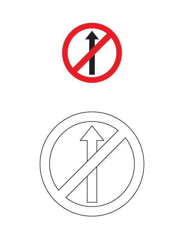 No Entry Traffic Sign Coloring Page Traffic Signs Coloring