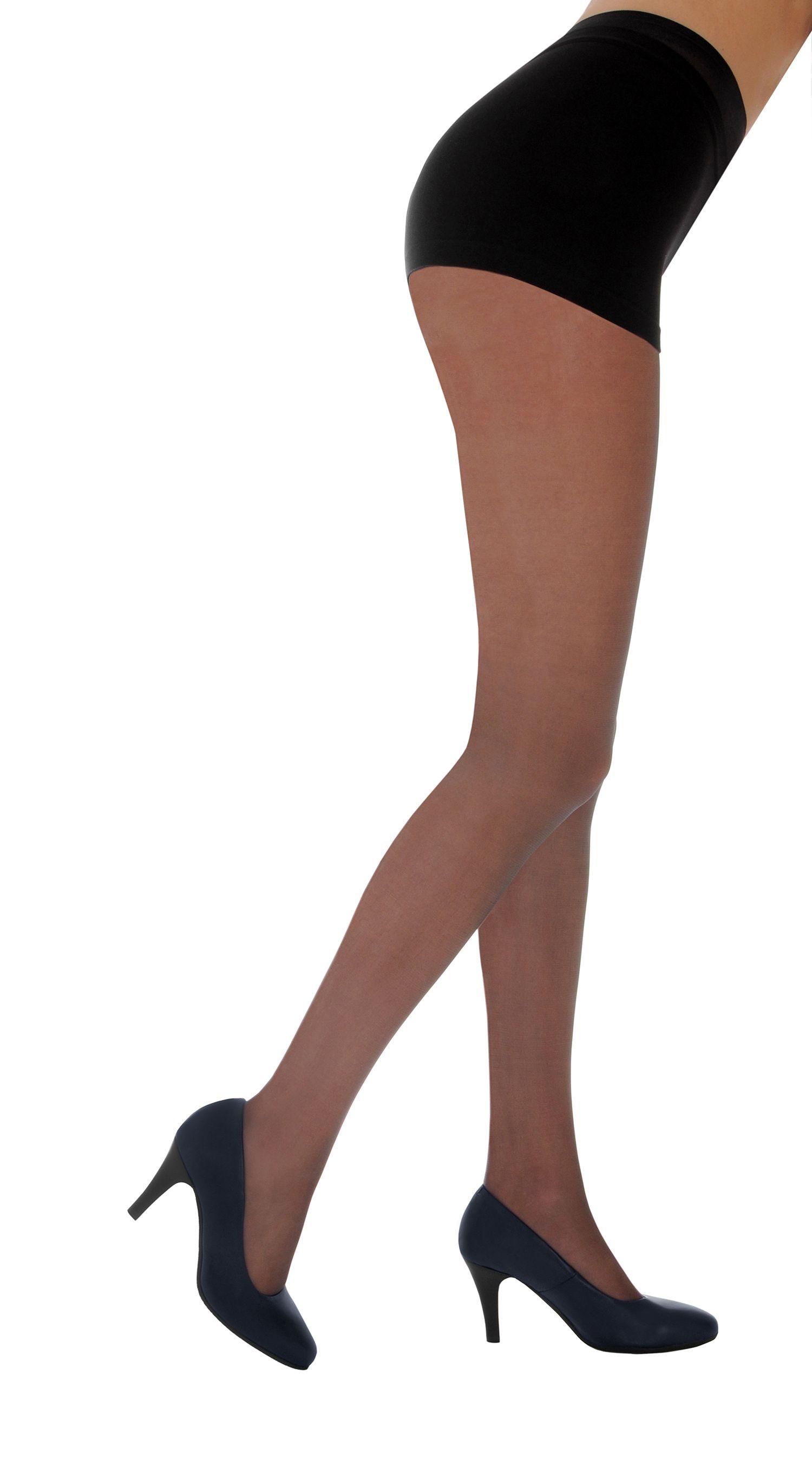 2030d5f5458 PRETTY LEGS 10 DENIER NYLON TIGHTS COLOUR  NEARLY BLACK