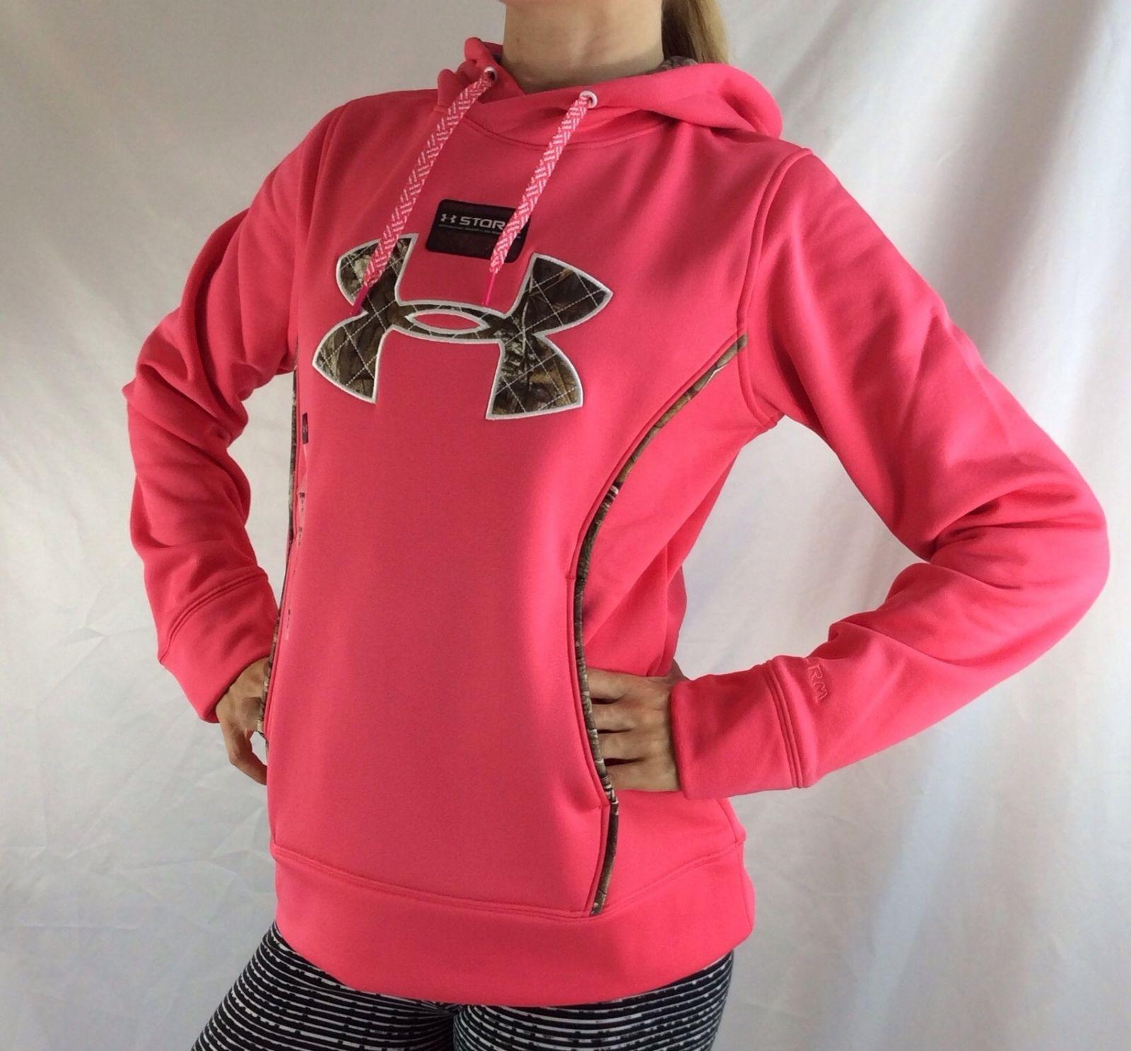 Under Armour Women's Fleece Sweater Hoodie Pink Camo Size Xl ...