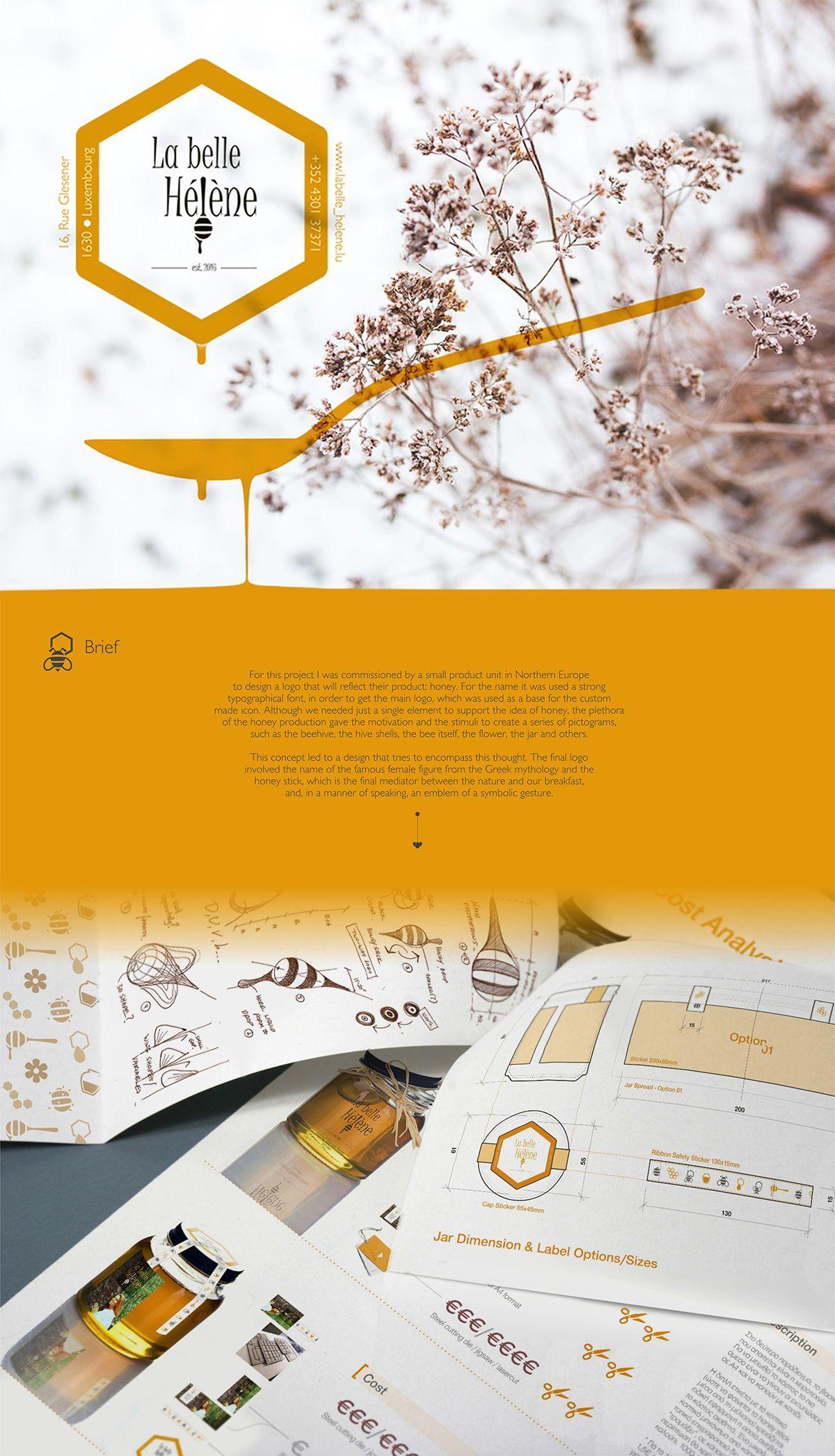 Honey Logo & packaging on Behance Мед упаковка