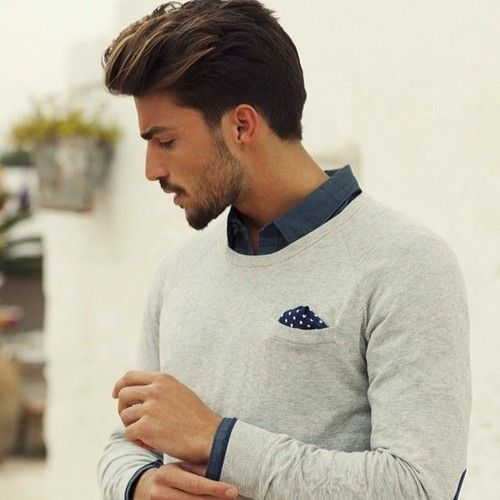 Sweater with a pocket square! Love it!