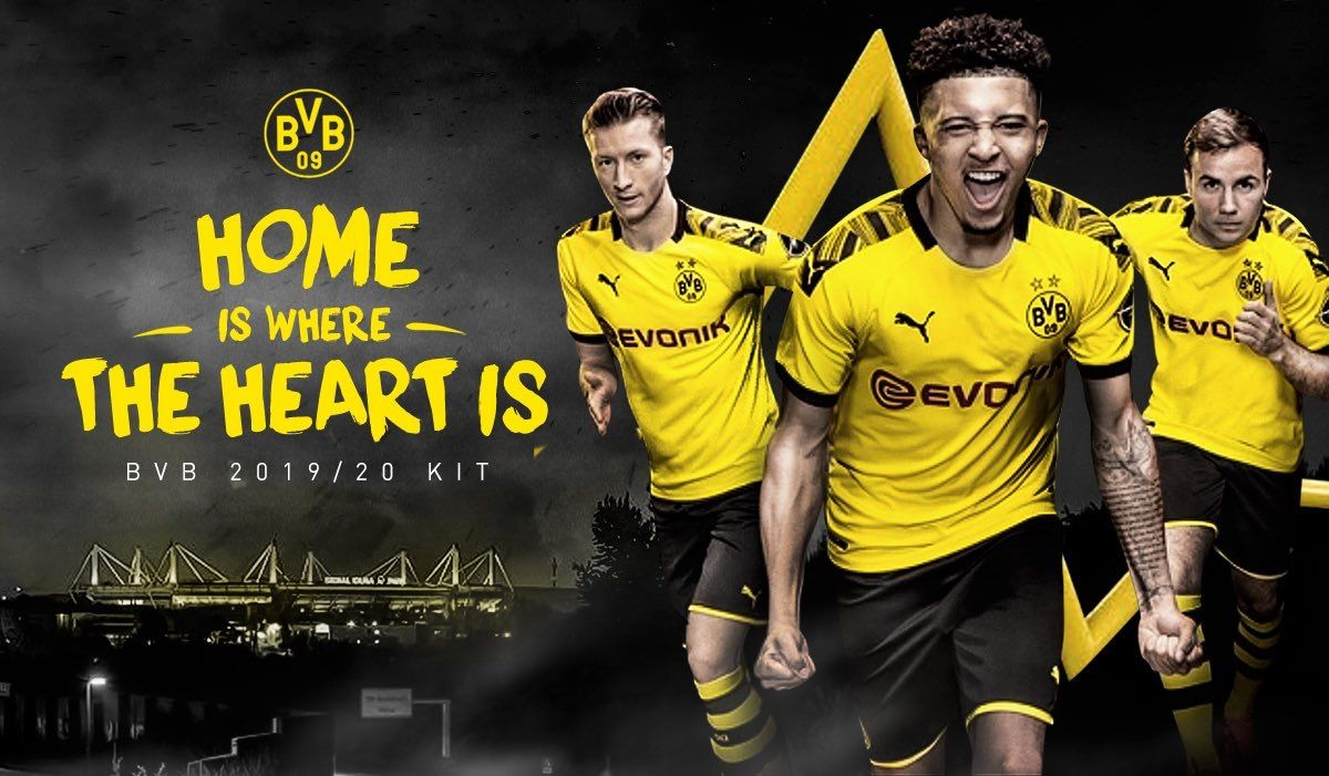 Borussia Dortmund 2019/2020 Home Kit. (With images