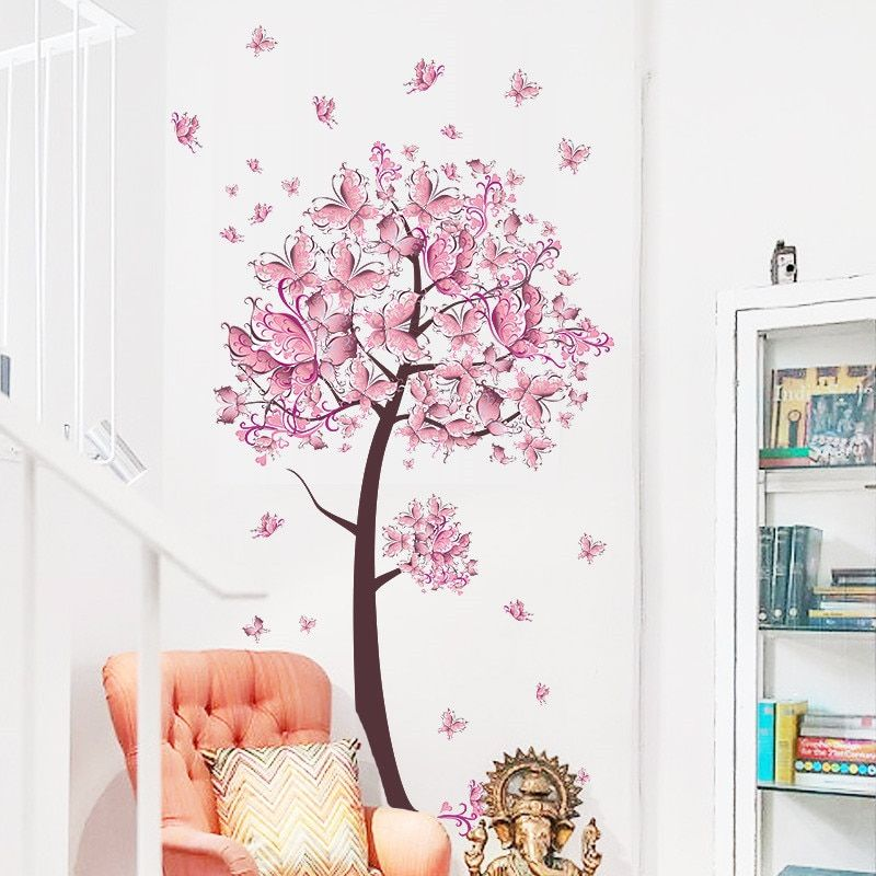Buy 100x70CM CUTE FLORAL BUTTERFLY WALL STICKERS at www.theworldbutterfly.com! Free shipping to 185 countries. 45 days money back guarantee.