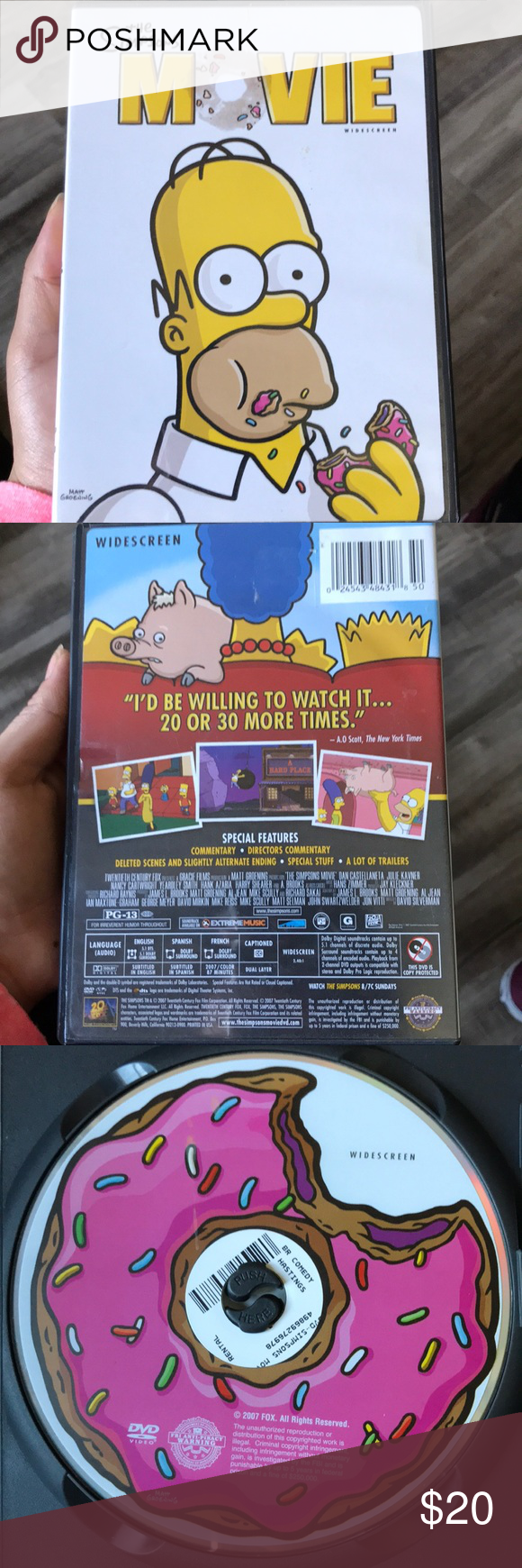 The Simpsons Movie Widescreen Great Movie Rated Pg 13 By Matt Groening The Simpsons Other The Simpsons Movie The Simpsons Simpson