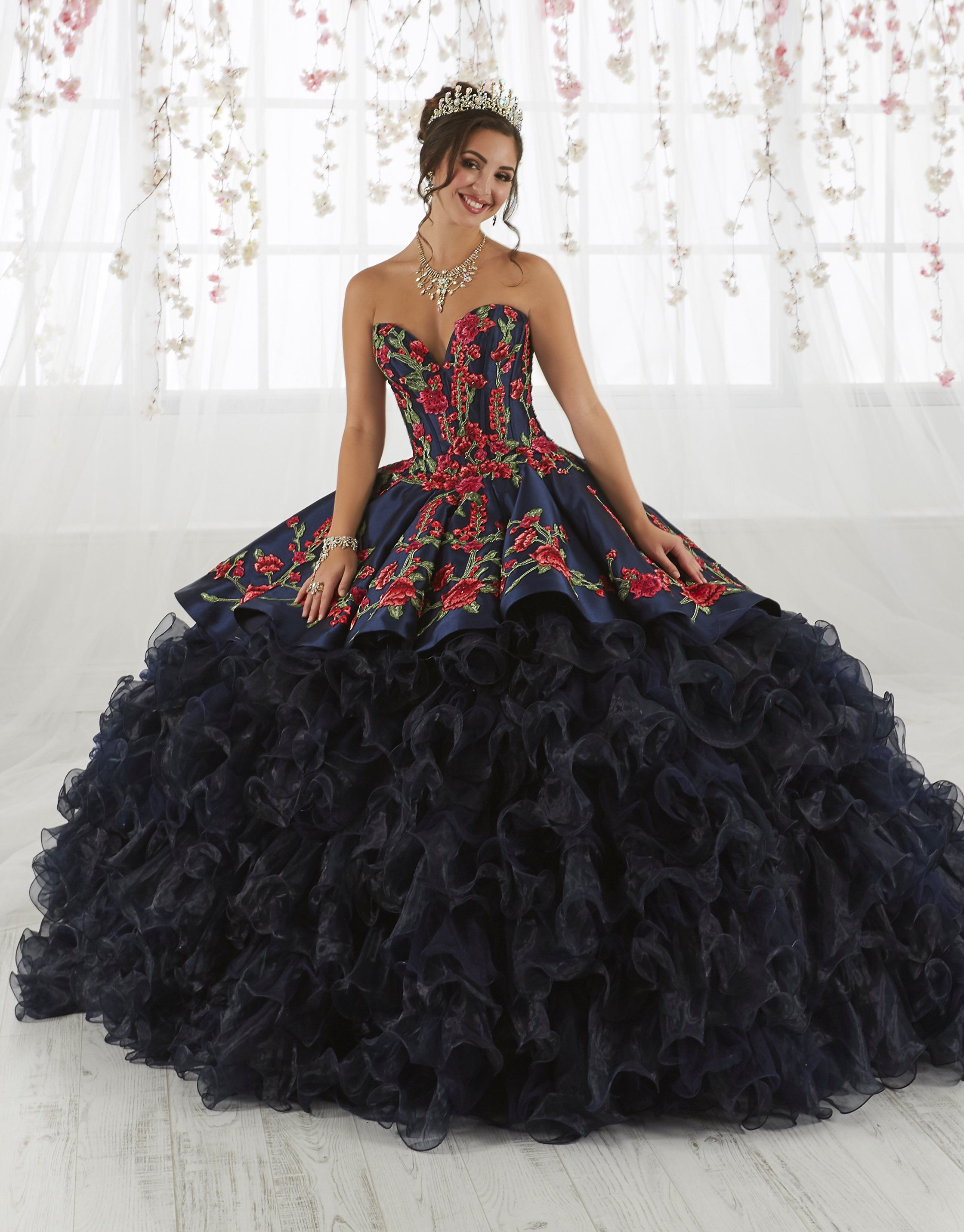 902ce6955af Rose Charro Quinceanera Dress by House of Wu 26892 in 2019 ...