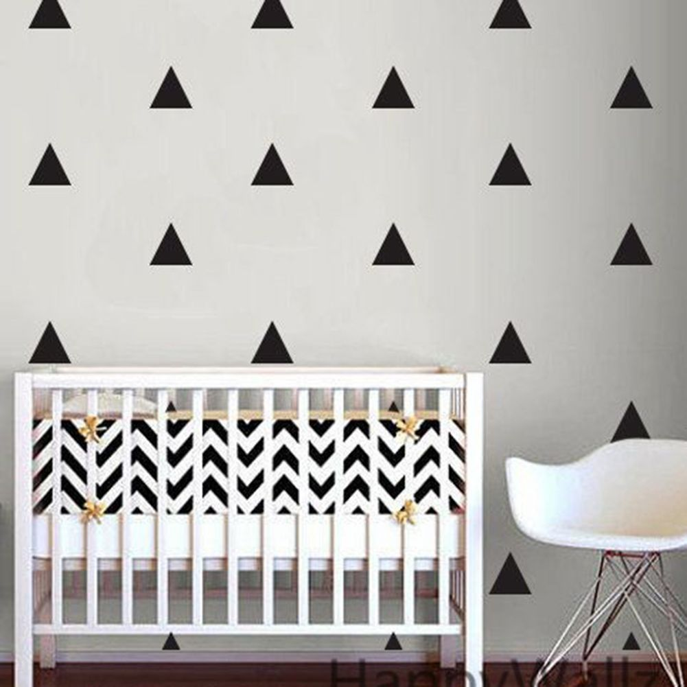 40pcs 5cm Triangle Wall Stickers Home Decor Removable Bedroom Living ...
