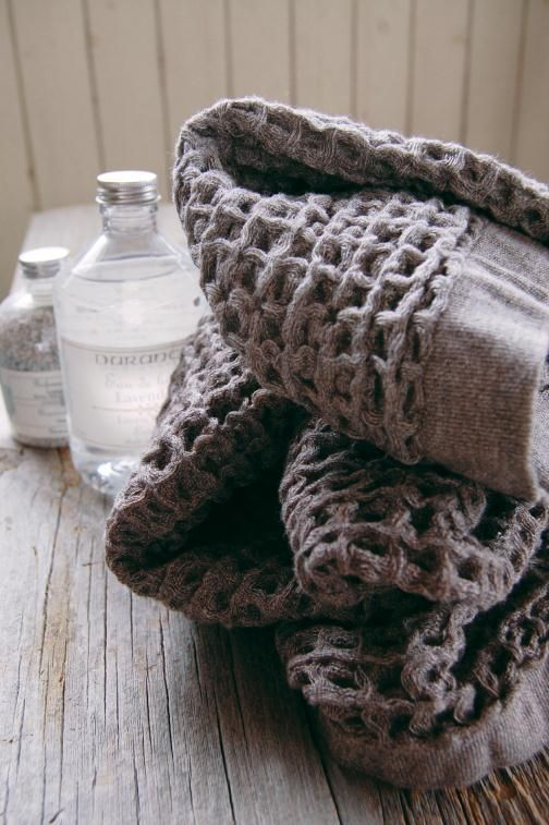 Produced in the coastal town of Imabari, the Kontex Lattice Towel, like others from the company (see Fabrics  Linens: Kontex Towels from Japan), is made from hand-picked cotton and is luxuriously soft. via @Remodelista