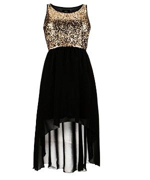 Images of Gold And Black Sequin Dress - Reikian