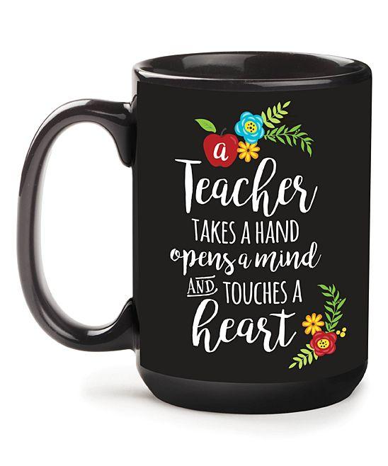 'A Teacher Takes A Hand' Personalized Mug
