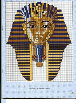 Punto de cruz egipcio ~ laboresdeesther Punto de cruz gratis