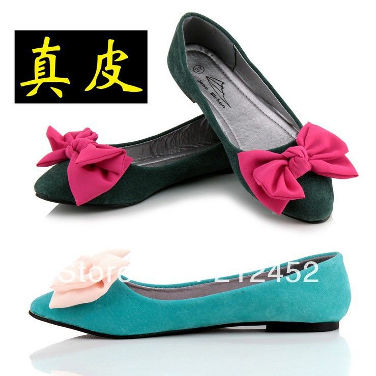 9,20 euro incl shipping 2013 fashion spring lovely, beautiful ladie's women's casual flat shoes, bowknot, pointed toe, free shipping-in Flats from Shoes on Aliexpre...