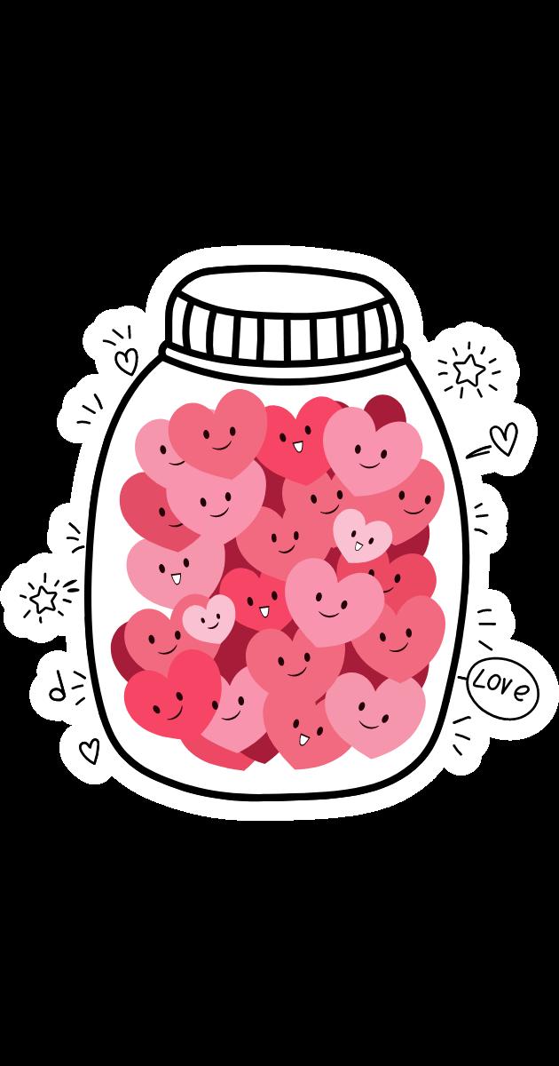 Jar with Love Hearts