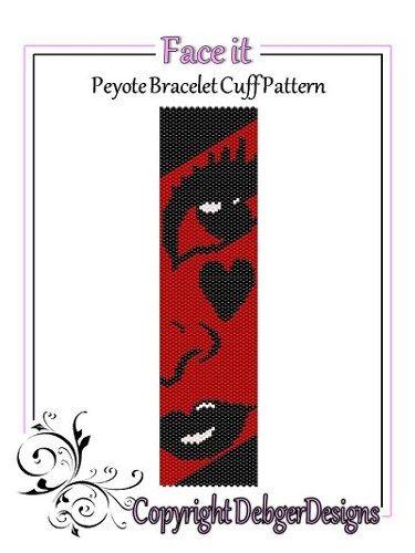 Face It - Beaded Peyote Bracelet Cuff Pattern | DebgerDesigns - Patterns on ArtFire