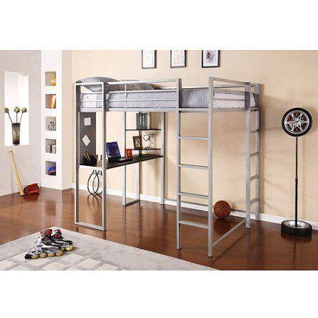 c3535d9415625 Abode Full Metal Loft Bed over Workstation Desk