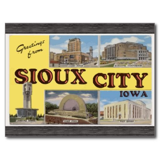 Greetings From Sioux City Iowa Vintage Postcard Zazzle Com In