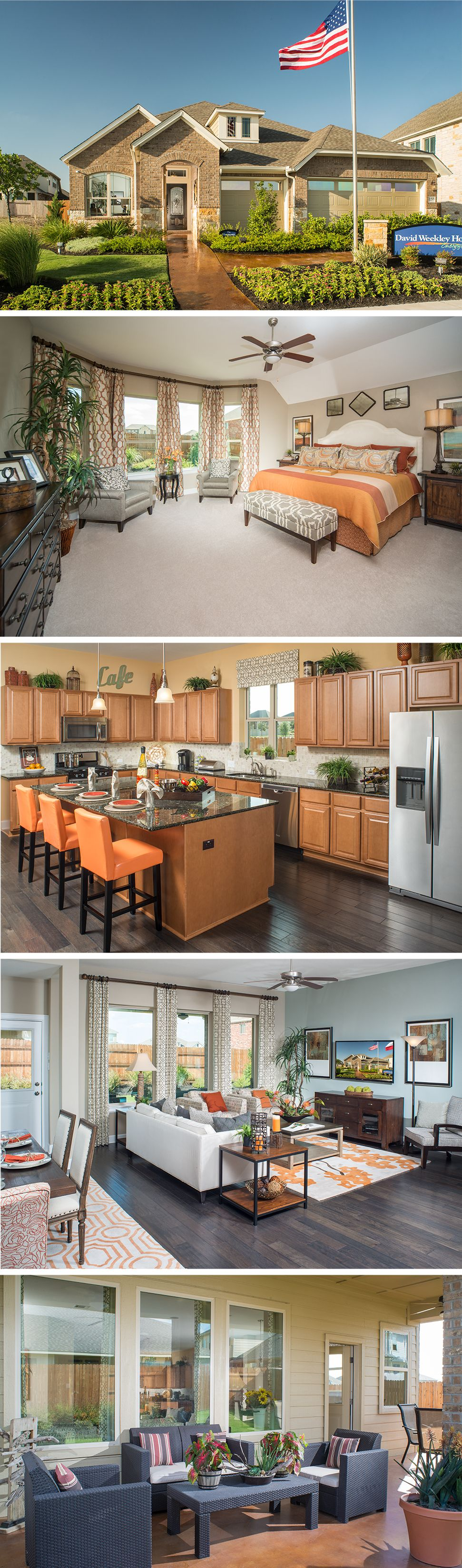 The Hennessey by David Weekley Homes in Blackhawk - Lifestyle features beautiful hardwood flooring, a large kitchen and dining area and a 2 car garage. Custom home options include an additional second story bedroom, a bay window in the owners retreat and an outdoor living space.