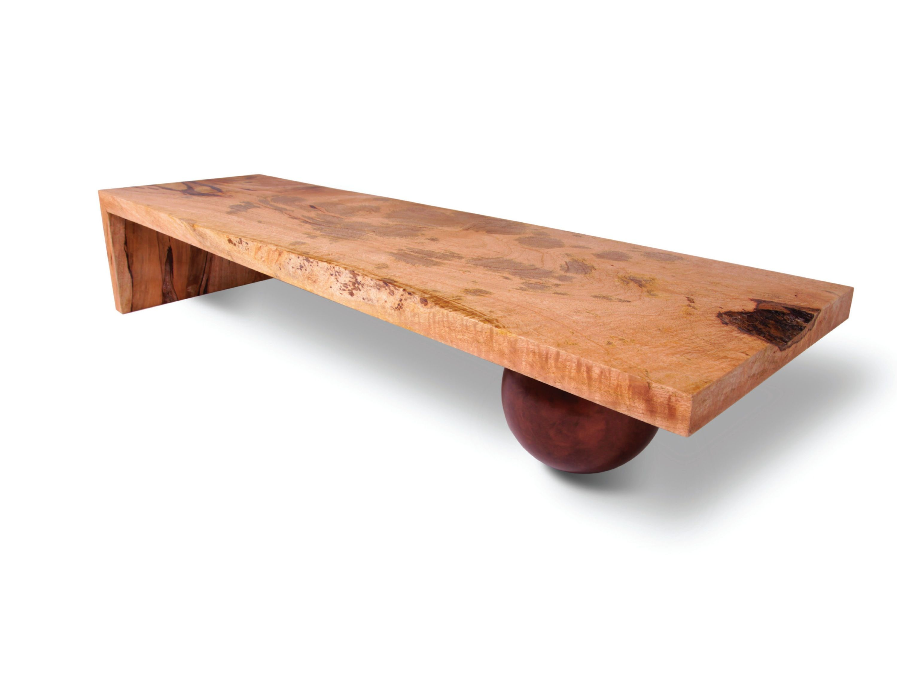 This Modern Coffee Table Is Made With A Single Slab Of Reclaimed