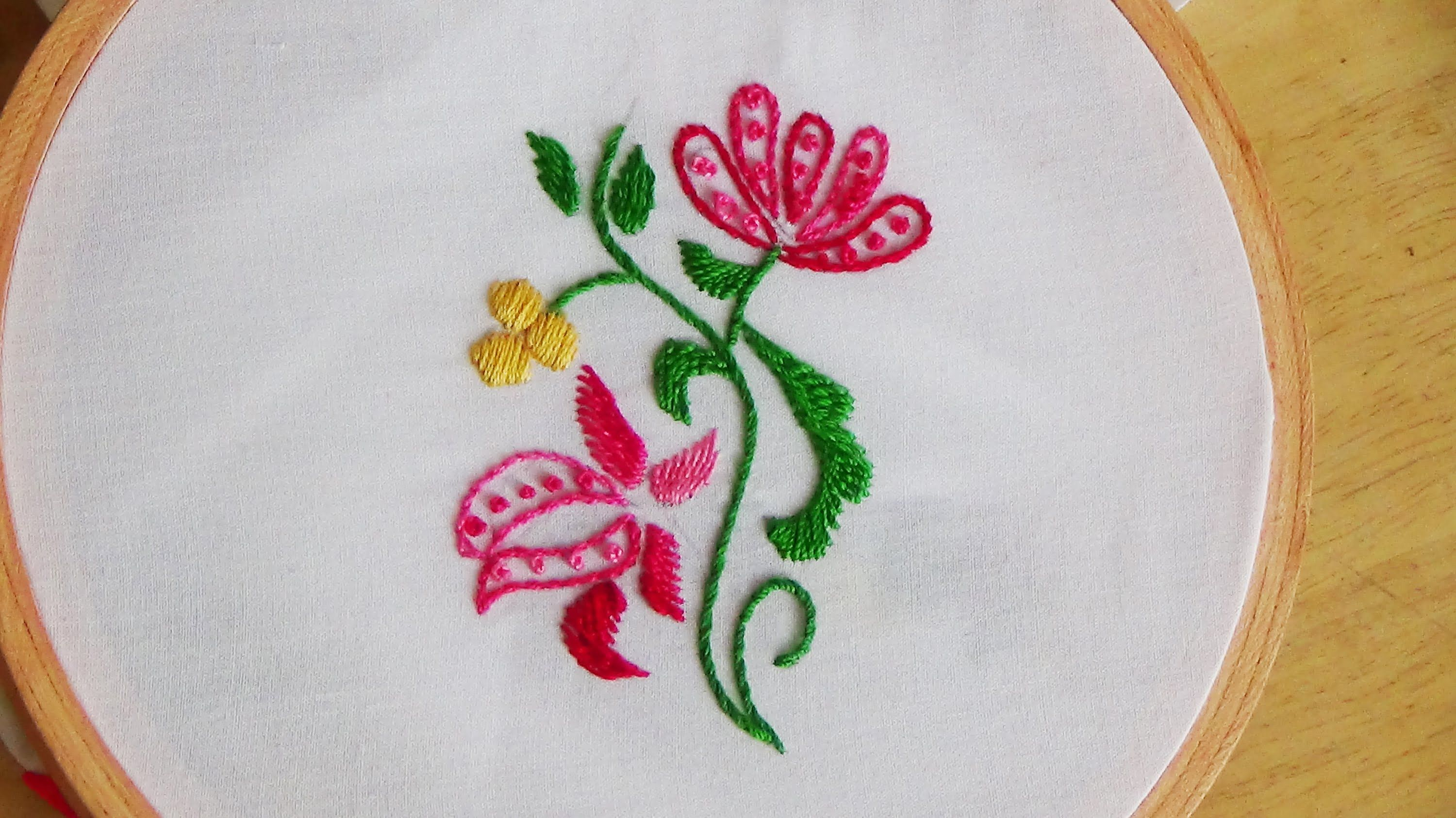 Hand embroidery french knot stitch filling youtube