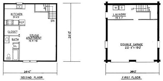 mother in law apartment with garage | FREE HOME PLANS - GARAGE PLANS ...