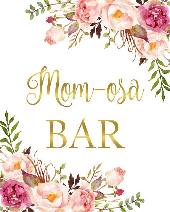 picture about Mimosa Bar Sign Printable named Boho Red Floral Momosa Bar Signal Printable, Mother-osa Bar Signal