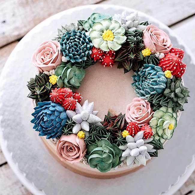 Gateaux en Bouquet de Fleurs