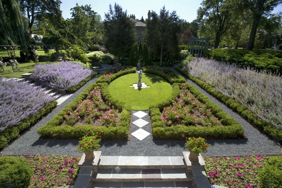 backyard landscape design landscape victorian with mass planting purple flowers walkway potted plants - Flower Garden Ideas Illinois