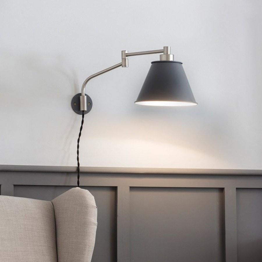 Hoxton Dome Glass Pendant Adjustable Wall Light Wall Lights Indoor Wall Lights