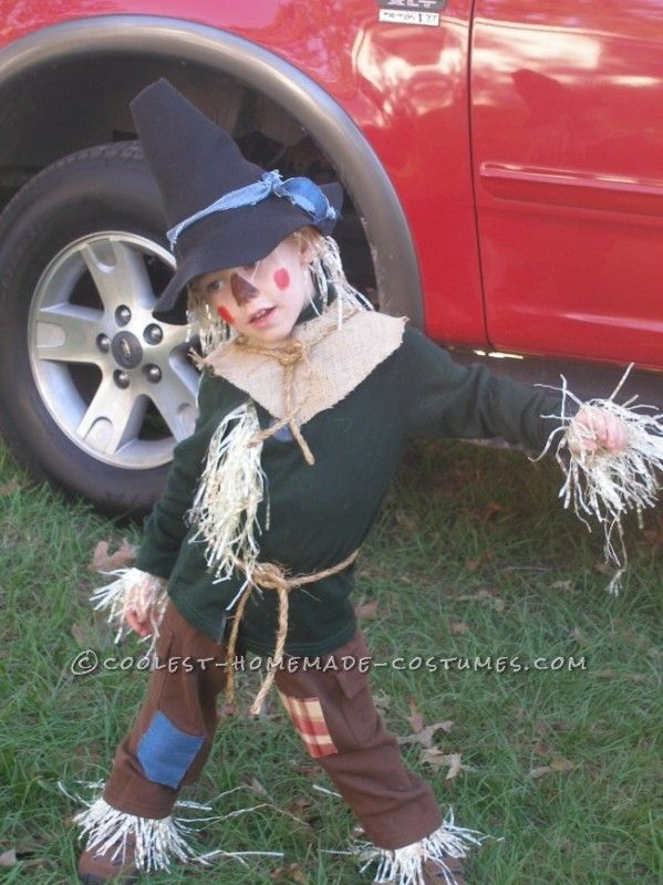 Coolest Homemade Child Scarecrow Costume from The Wizard of Oz ...
