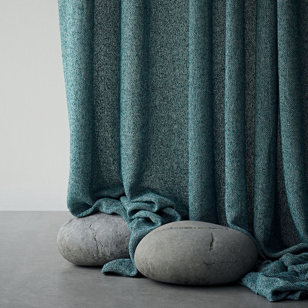 The Allure Of This Lightweight Curtain Fabric Is Its Looped