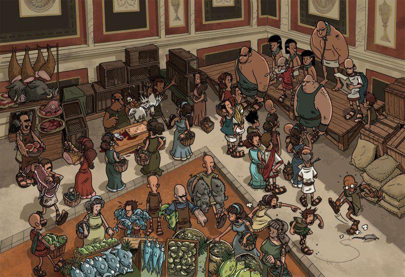 market scene | Ancient romans, Street scenes, Scene