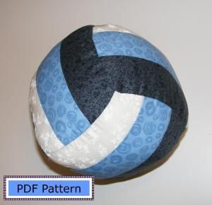ha ha; awesome! Volleyball Pillow Pattern | Tweens & Teens! | YouCanMakeThis.com