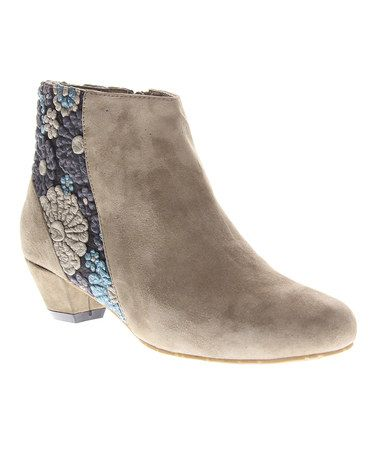 Another great find on #zulily! Gray Snapdragon Suede Bootie by Azura #zulilyfinds